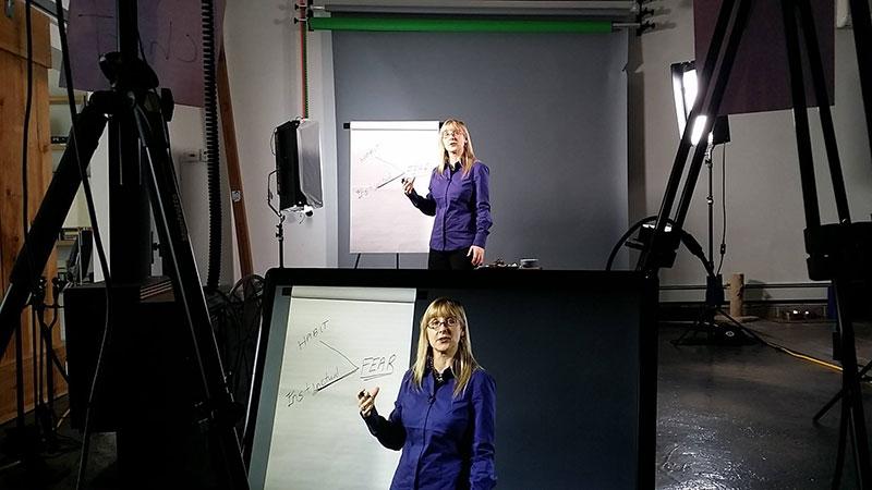 Karen Day on set